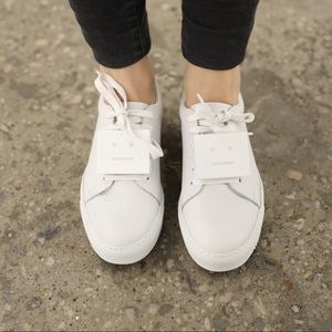 Acne Grained Leather Sneakers